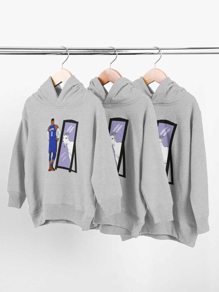Alternate view of Russell Westbrook Mirror GOAT (Thunder) Toddler Pullover Hoodie