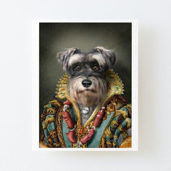 Schnauzer Portrait - Bailey Canvas Mounted Print