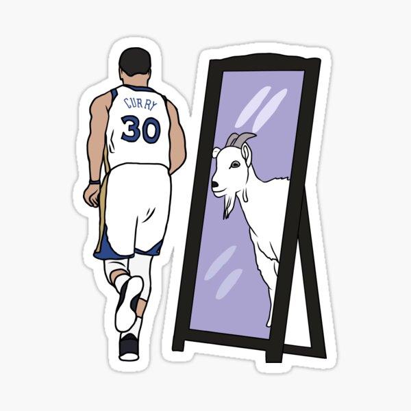 Steph Curry Mirror GOAT Sticker
