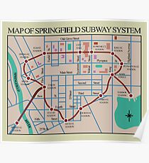 Springfield Subway System Map Poster