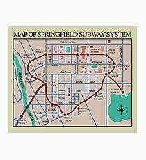 Springfield Subway System Map Photographic Print
