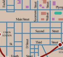Springfield Subway System Map Sticker