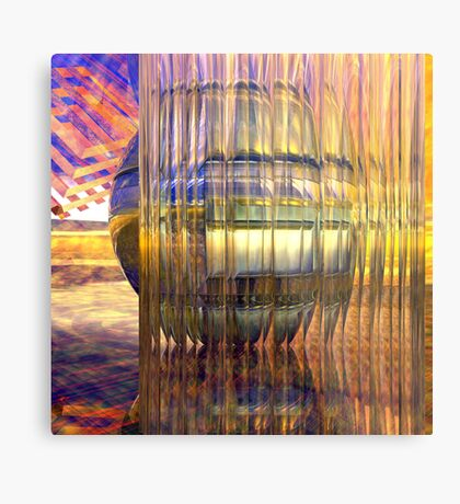 Definition of Design // Behind the Shining Glass Metal Print