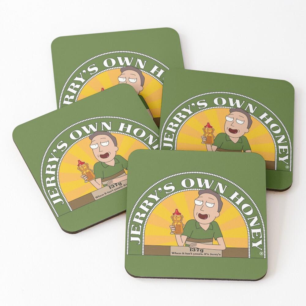 Jerrys Own Honey Coasters (Set of 4)