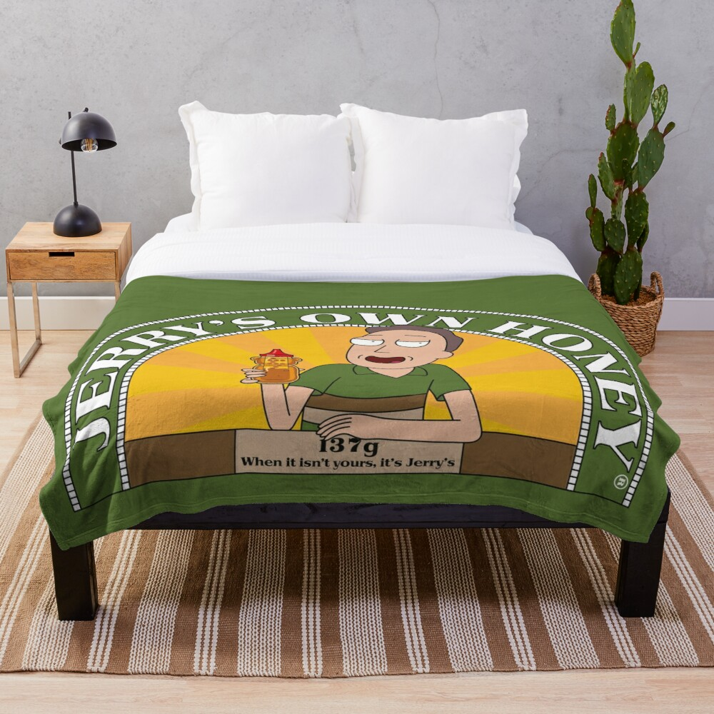 Jerrys Own Honey Throw Blanket