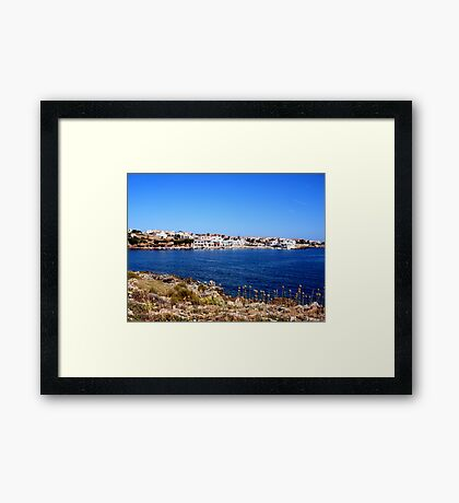 The Bay Of Fornells Framed Print