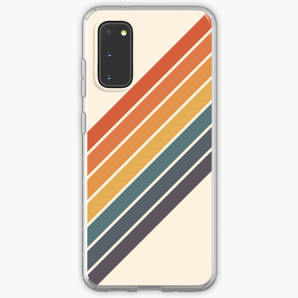 Arida - 70s Style Minimal Retro Stripes Case & Skin for Samsung Galaxy