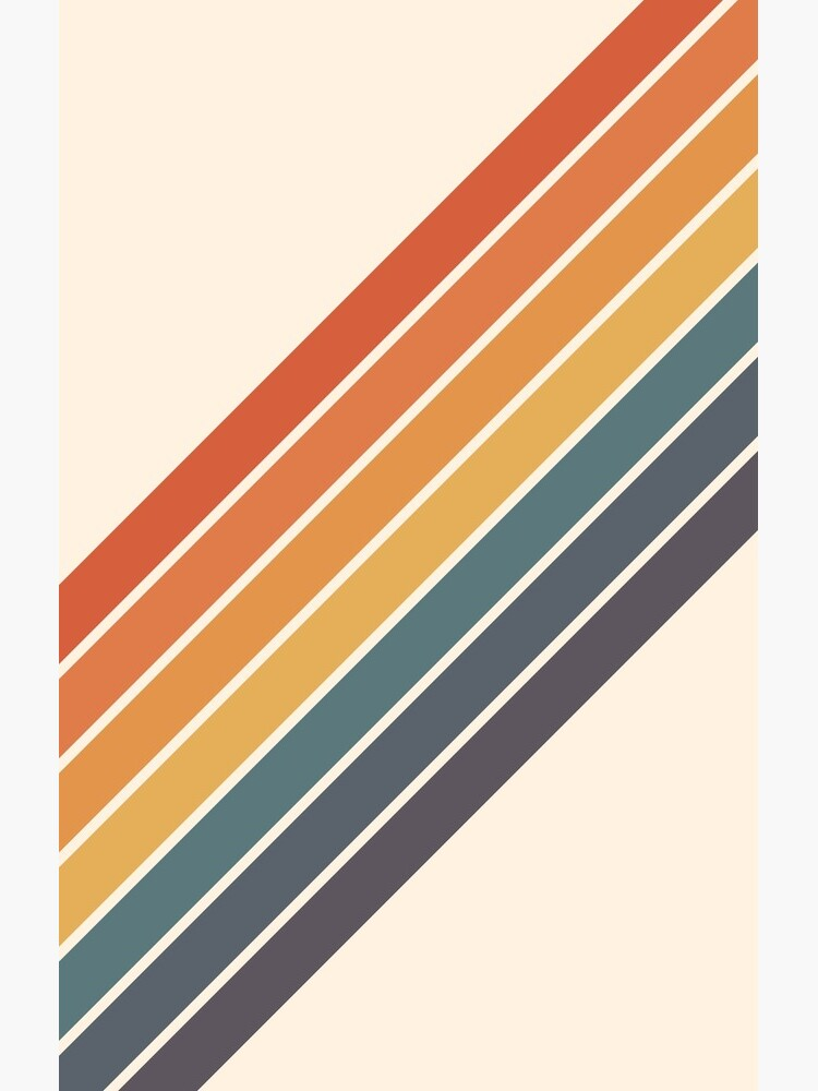 Arida - 70s Style Minimal Retro Stripes by OmegaAlpha