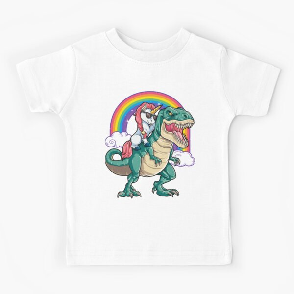 Chemise de dinosaure d'équitation de licorne pour filles femmes enfants garçons hommes cadeau d'amant de licorne de licorne T-shirt enfant