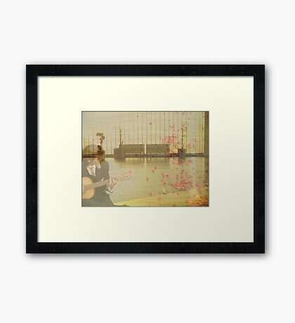 Wandered into a flat dream Framed Print