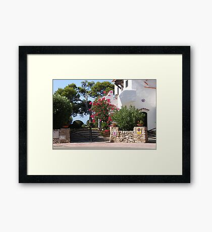 House And Garden In Cala Galdana  Framed Print