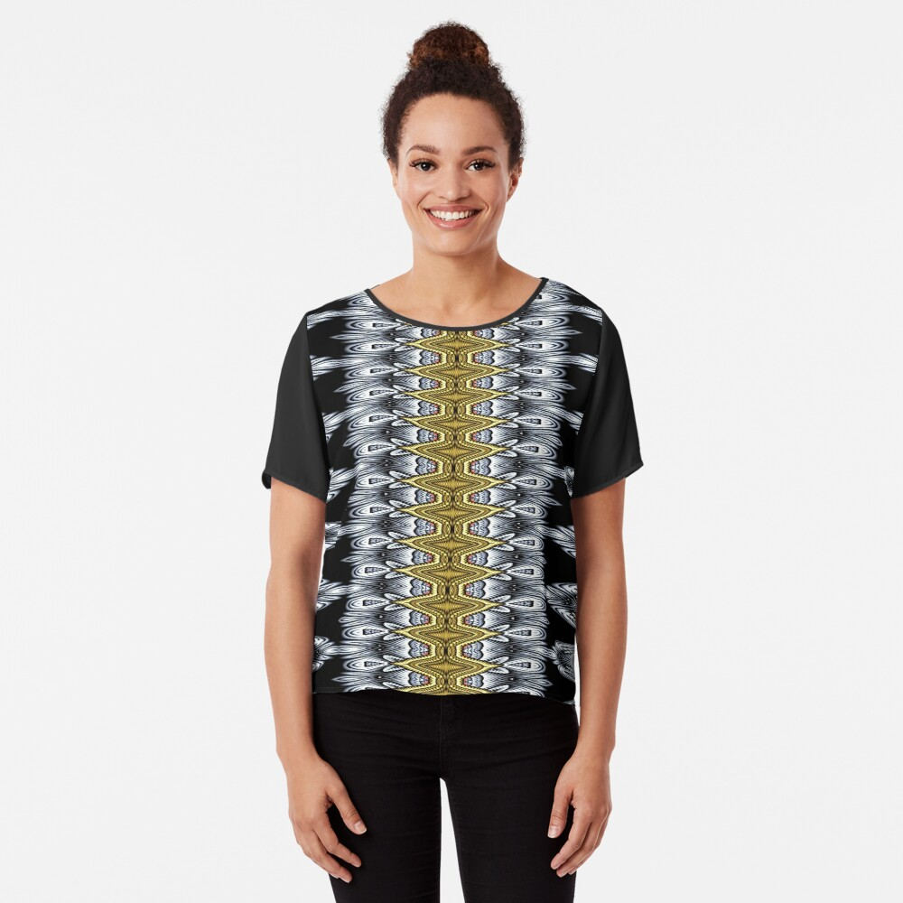 Exotic Crochet (1) Chiffon Top