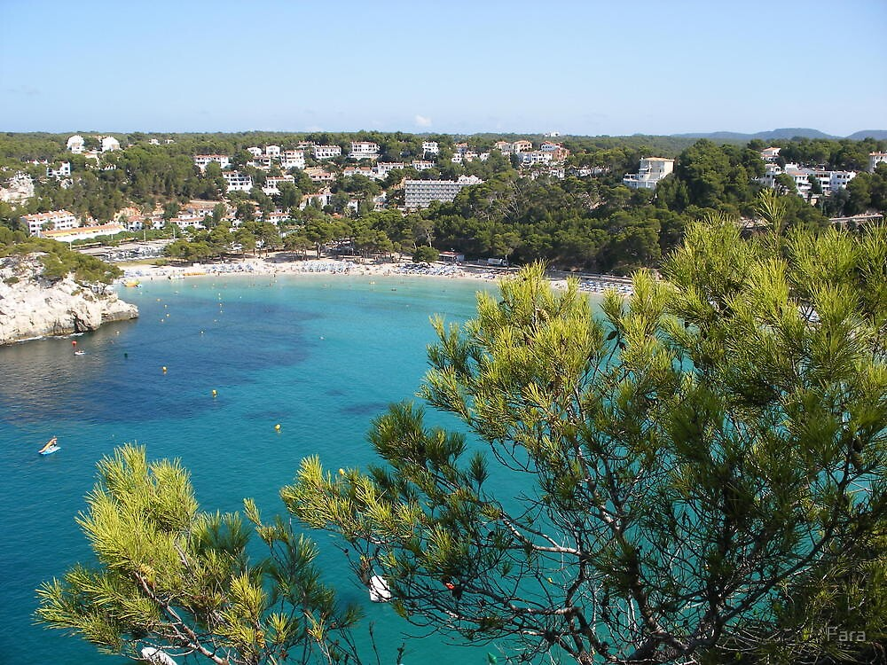 Cala Galdana From The House On The Cliff by Fara
