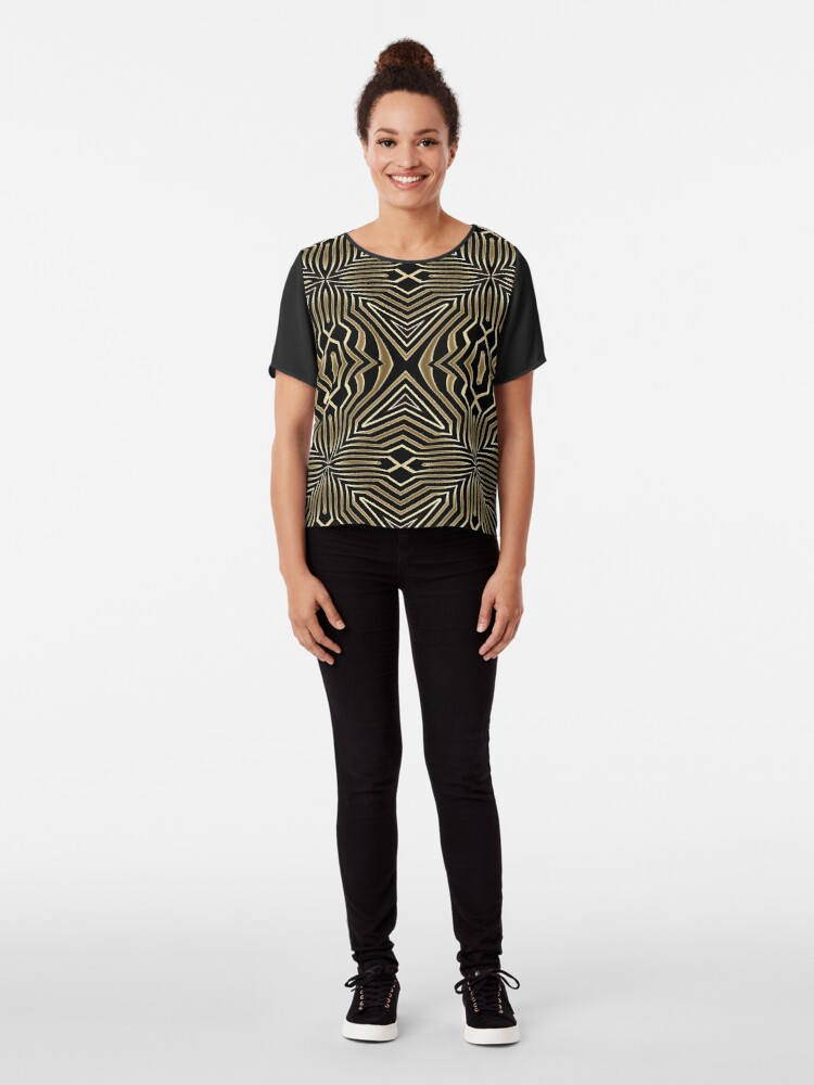 Alternate view of Ornament Lines Chiffon Top