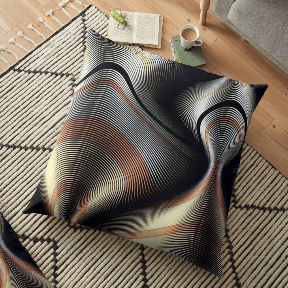 MetallicPsychedelic Floor Pillow
