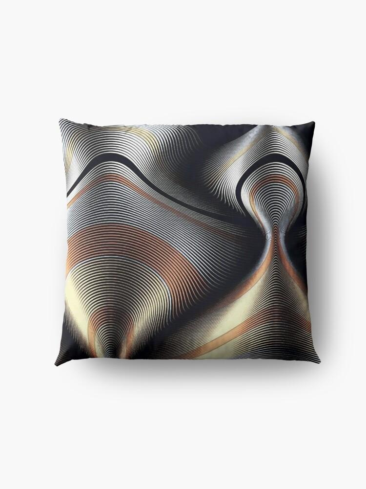 Alternate view of MetallicPsychedelic Floor Pillow