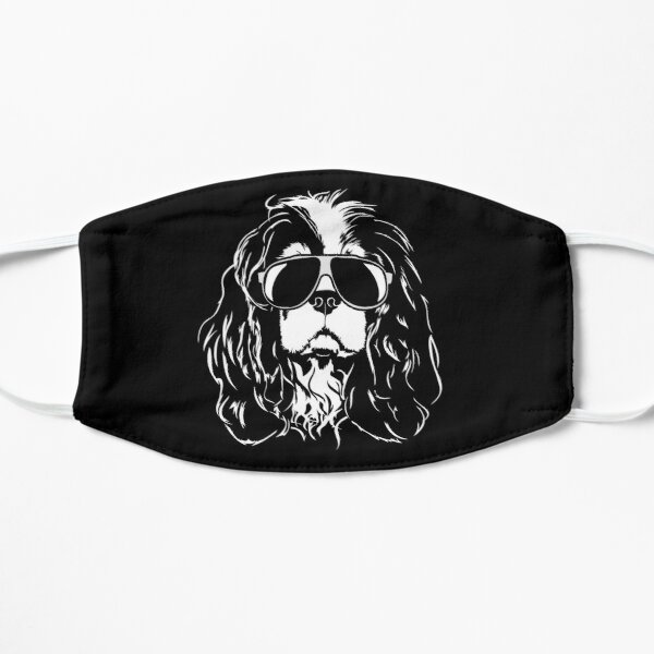 Cavalier King Charles Spaniel with sunglasses Flat Mask