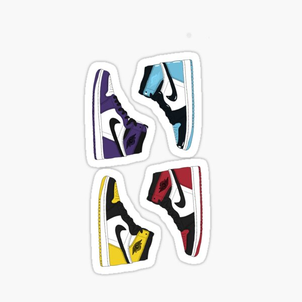 4 Jordan 1 high shoes Sticker