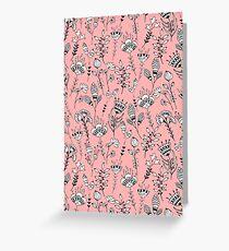 Floral pink pattern Greeting Card