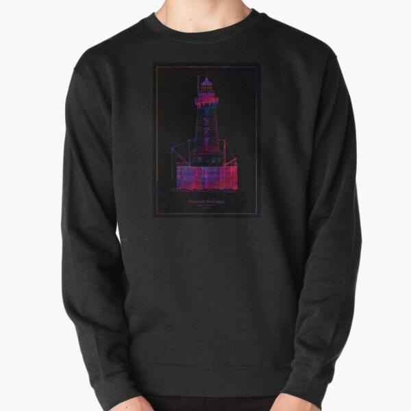 Stannard Rock Lighthouse - Michigan - blueprint drawing Pullover Sweatshirt