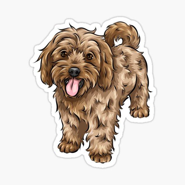 Cute Cavapoo | Cute Dog Art Sticker