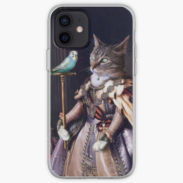 Cat and Budgie Portrait -  Big Cat and Cyril iPhone Soft Case