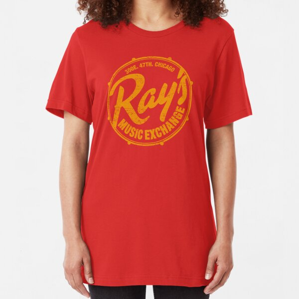 Ray's Music Exchange (worn look) Slim Fit T-Shirt