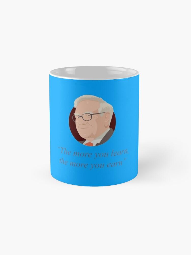 Alternate view of Warren Buffett quote Mugs