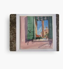 Venetian morning - window on the canal Metal Print