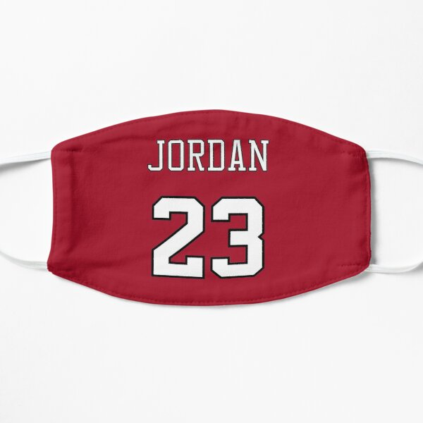 Michael Jordan 23 Name and Number Chicago Bulls Red and White Mask