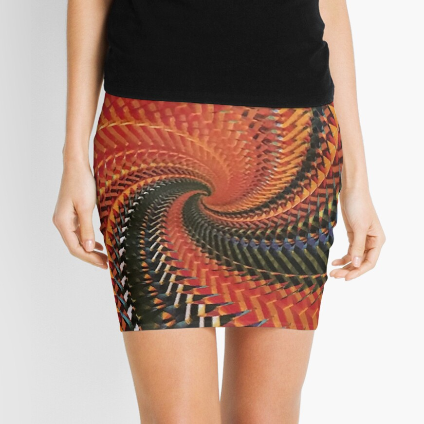 Spiral Scream DNA Mini Skirt