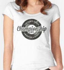 Championship Vinyl (worn look) Women's Fitted Scoop T-Shirt