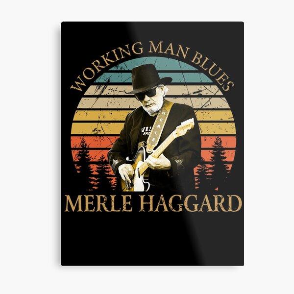 Vintage Retro Merle Haggard Gifts for Mens Women Metal Print