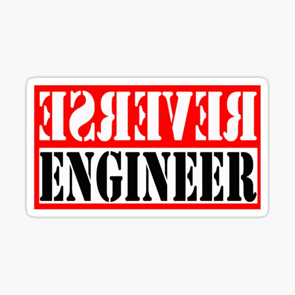 Reverse Engineer Red on black Sticker