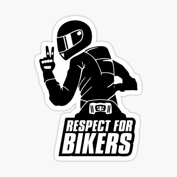 Respect for bikers, Yamaha MT-09 black Sticker