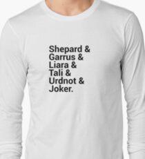 Mass Effect Character Names Long Sleeve T-Shirt