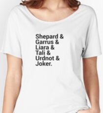 Mass Effect Character Names Women's Relaxed Fit T-Shirt