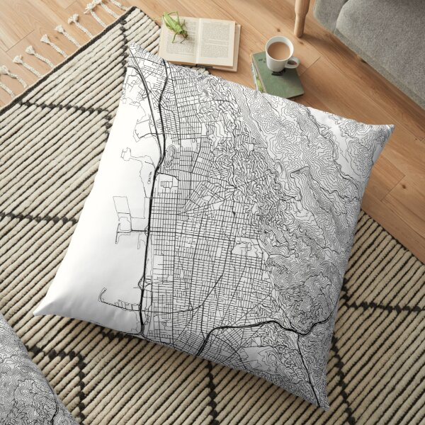 Berkeley map poster print wall art, California gift printable, Home and Nursery, Modern map decor for office, Map Art, Map Gifts Floor Pillow