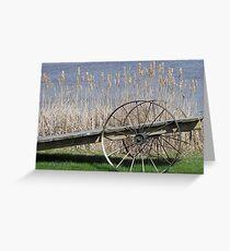 Cat Tails & Wagon Wheels Greeting Card