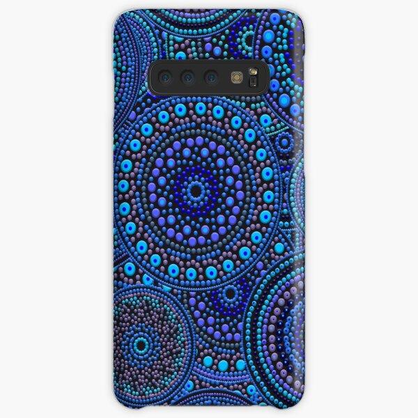 Dot Art Circles Blues Samsung Galaxy Snap Case