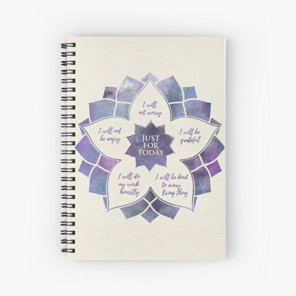 Reiki Principles - Reiki Precepts Spiral Notebook