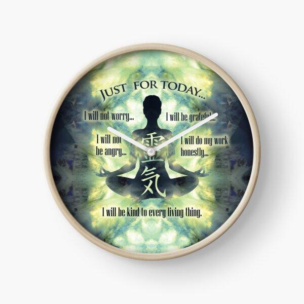 Reiki Principles - Reiki Precepts Clock