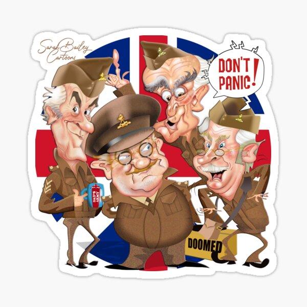 Dad's Army cartoon Sticker