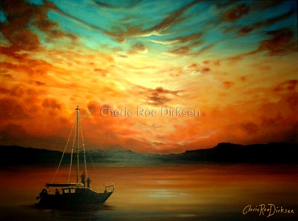 Sunset Sailing... by Cherie Roe Dirksen