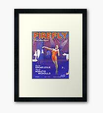 FIREFLY (vintage illustration) Framed Print