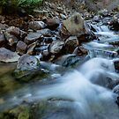 Boulder Creek Water Falling by Bo Insogna