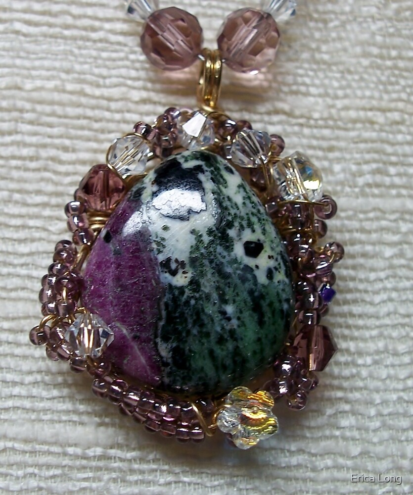 Ruby Zoizite Pendant by Erica Long