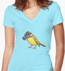 The Birds Aren't Singing Women's Fitted V-Neck T-Shirt