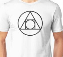 Alchemical Philosophers Stone Glyph, Black Unisex T-Shirt