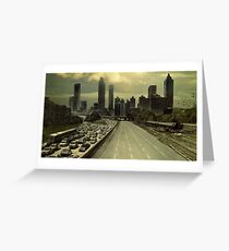 The walking dead city Greeting Card